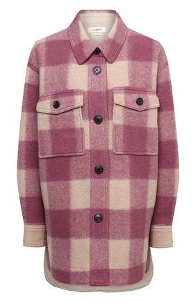 Женская куртка ISABEL MARANT ETOILE розового цвета, арт. MA0998-21A009E/HARVELI   Фото 1 (Материал подклада: Хлопок; Материал внешний: Синтетический материал; Рукава: Длинные; Длина (верхняя одежда): До середины бедра; Кросс-КТ: Куртка; Стили: Гранж)