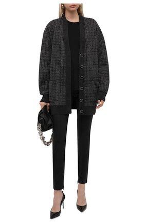 Женский кашемировый кардиган GIVENCHY серого цвета, арт. BW90D64ZAA | Фото 2