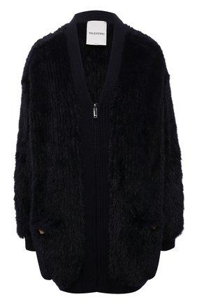 Женская куртка из меха норки VALENTINO темно-синего цвета, арт. WF3FBP05TDK   Фото 1
