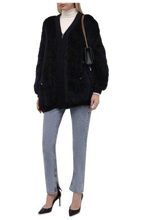 Женская куртка из меха норки VALENTINO темно-синего цвета, арт. WF3FBP05TDK   Фото 2