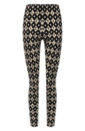 Женские леггинсы VALENTINO черно-белого цвета, арт. WB3MD03E6KK   Фото 1 (Материал внешний: Синтетический материал; Длина (брюки, джинсы): Стандартные; Женское Кросс-КТ: Леггинсы-одежда; Стили: Гламурный)