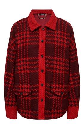 Женский кашемировый жакет KITON красного цвета, арт. D52514K0124A   Фото 1 (Материал внешний: Шерсть, Кашемир; Материал подклада: Шелк; Рукава: Длинные; Длина (для топов): Стандартные; Женское Кросс-КТ: Жакет-одежда; 1-2-бортные: Однобортные; Стили: Гранж; Случай: Повседневный)