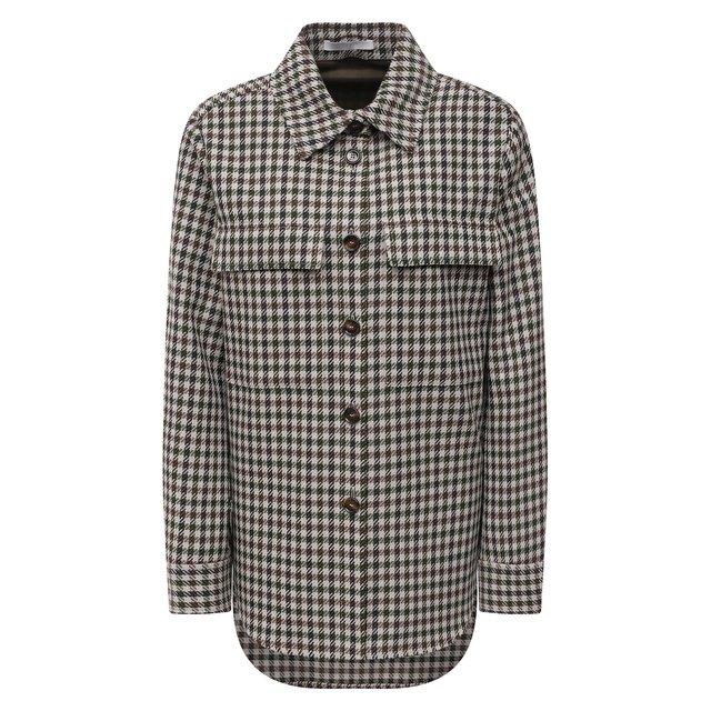 Рубашка из шерсти и хлопка BOSS