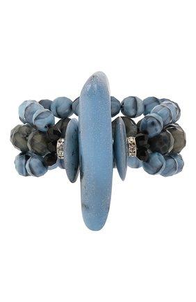 Женский браслет GIORGIO ARMANI синего цвета, арт. 61A224/1A922 | Фото 1 (Материал: Стекло)