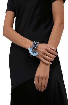 Женский браслет GIORGIO ARMANI синего цвета, арт. 61A224/1A922 | Фото 2 (Материал: Стекло)