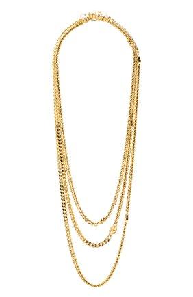 Женское колье GUCCI золотого цвета, арт. 645656/I4620 | Фото 1 (Материал: Металл)