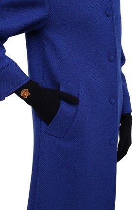 Женские шерстяные перчатки KENZO темно-синего цвета, арт. FB68GW131KFB   Фото 2