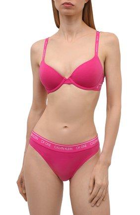 Женский бюстгальтер с чашкой пуш-ап CALVIN KLEIN розового цвета, арт. QF5732E   Фото 2