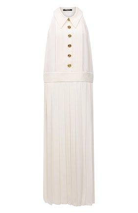 Женское платье из вискозы BALMAIN кремвого цвета, арт. WF1R0030/V089 | Фото 1 (Длина Ж (юбки, платья, шорты): Макси; Материал внешний: Вискоза; Женское Кросс-КТ: Платье-одежда; Стили: Кэжуэл; Случай: Повседневный; Кросс-КТ: Трикотаж)