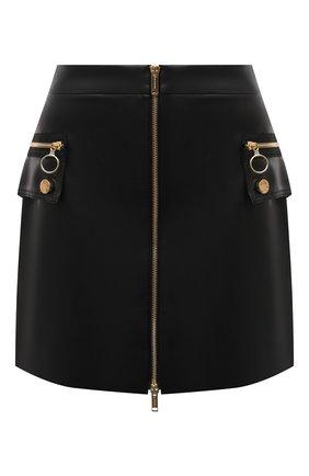 Женская юбка ICEBERG черного цвета, арт. 21I I2P0/C081/2829   Фото 1 (Длина Ж (юбки, платья, шорты): Мини; Материал внешний: Синтетический материал; Женское Кросс-КТ: Юбка-одежда; Стили: Гранж)