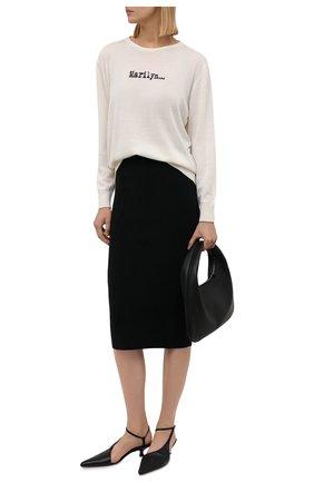 Женский шерстяной пуловер N21 кремвого цвета, арт. 21I N2M0/A012/7019   Фото 2
