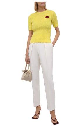 Женский шерстяной пуловер N21 желтого цвета, арт. 21I N2M0/A020/7125   Фото 2