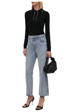 Женский шерстяной пуловер N21 черного цвета, арт. 21I N2M0/A036/9005   Фото 2