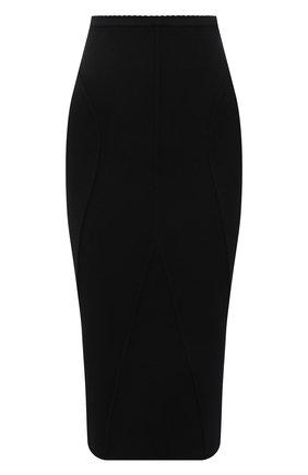 Женская шерстяная юбка N21 черного цвета, арт. 21I N2M0/AC03/9005   Фото 1