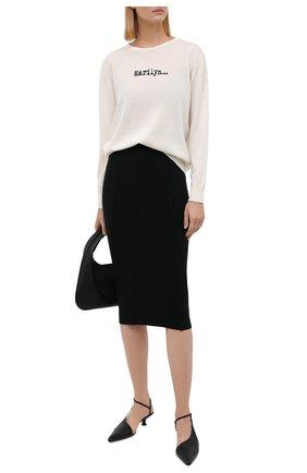 Женская шерстяная юбка N21 черного цвета, арт. 21I N2M0/AC03/9005   Фото 2