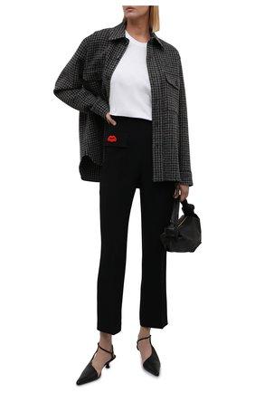 Женские брюки N21 черного цвета, арт. 21I N2M0/B031/5336   Фото 2