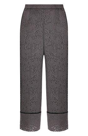 Женские хлопковые брюки N21 серого цвета, арт. 21I N2M0/B061/4123   Фото 1