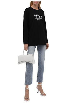Женский хлопковый пуловер N21 черного цвета, арт. 21I N2M0/F052/6322   Фото 2
