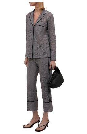 Женская хлопковая рубашка N21 серого цвета, арт. 21I N2M0/G072/4123   Фото 2