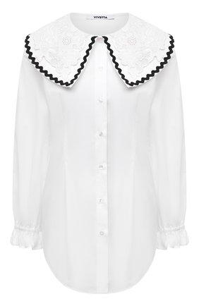 Женская хлопковая рубашка VIVETTA белого цвета, арт. 21I V2M0/G011/0650 | Фото 1