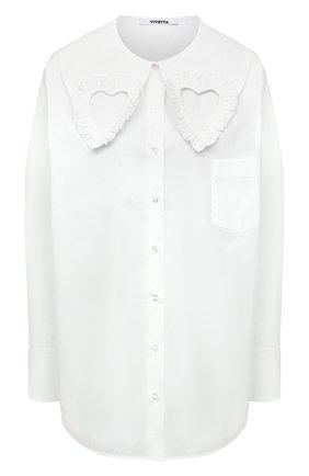 Женская хлопковая рубашка VIVETTA белого цвета, арт. 21I V2M0/G091/0650 | Фото 1