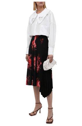 Женская хлопковая рубашка VIVETTA белого цвета, арт. 21I V2M0/G091/0650 | Фото 2