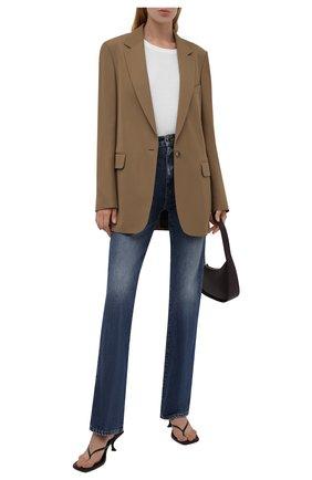 Женские джинсы KHAITE синего цвета, арт. 1032-060/DANIELLE   Фото 2