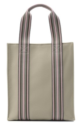 Женский сумка-шопер suitcase stripe LORO PIANA зеленого цвета, арт. FAL4563 | Фото 1 (Материал: Текстиль; Сумки-технические: Сумки-шопперы; Размер: large)