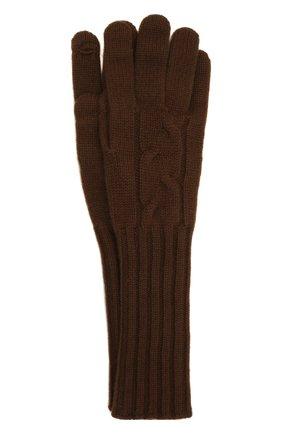 Женские кашемировые перчатки LORO PIANA коричневого цвета, арт. FAI8570 | Фото 1 (Материал: Кашемир, Шерсть; Кросс-КТ: Трикотаж; Длина (верхняя одежда): Длинные)