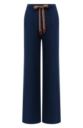 Женские кашемировые брюки LORO PIANA бирюзового цвета, арт. FAI7258 | Фото 1 (Материал внешний: Кашемир, Шерсть; Женское Кросс-КТ: Брюки-одежда; Силуэт Ж (брюки и джинсы): Расклешенные; Стили: Спорт-шик; Длина (брюки, джинсы): Стандартные)