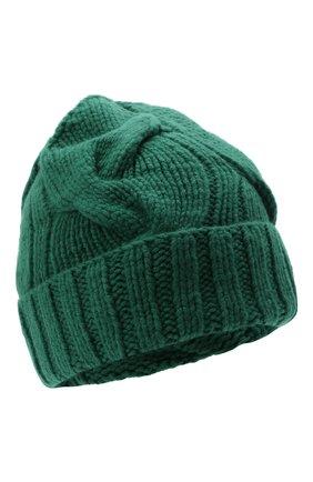 Женская кашемировая шапка courchevel LORO PIANA темно-зеленого цвета, арт. FAI5490 | Фото 1 (Материал: Кашемир, Шерсть)