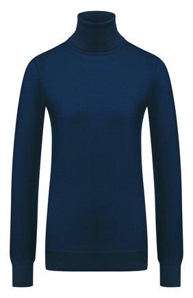 Женская кашемировая водолазка LORO PIANA синего цвета, арт. FAC4672   Фото 1