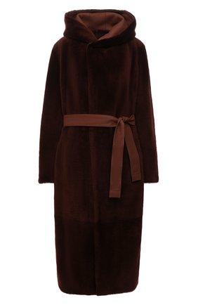 Женская двусторонняя дубленка LORO PIANA коричневого цвета, арт. FAL2393 | Фото 1 (Материал внешний: Натуральный мех; Рукава: Длинные; Длина (верхняя одежда): Длинные; Стили: Кэжуэл)