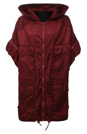 Женская куртка REDVALENTINO бордового цвета, арт. WR3CJ00T/63K   Фото 1 (Длина (верхняя одежда): До середины бедра; Материал внешний: Синтетический материал; Рукава: Короткие; Стили: Спорт-шик; Кросс-КТ: Куртка)
