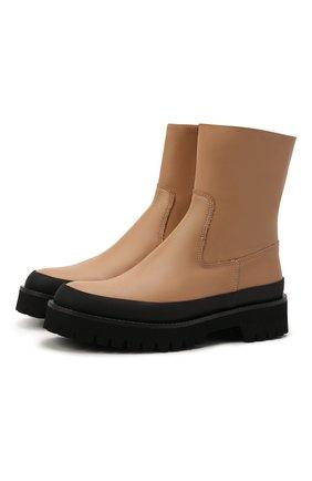 Женские кожаные ботинки brenda PALOMA BARCELO бежевого цвета, арт. BRENDA NAPAS0FT | Фото 1