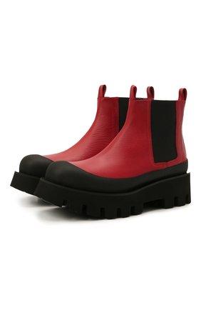 Женские кожаные ботинки celine PALOMA BARCELO красного цвета, арт. CELINE NAPAS0FT | Фото 1