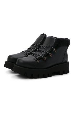 Женские кожаные ботинки loris PALOMA BARCELO черного цвета, арт. L0RIS NAPAS0FT/M0UT0N | Фото 1