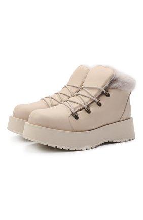 Женские кожаные ботинки mimi PALOMA BARCELO белого цвета, арт. MIMI NAPAS0FT/M0UT0N | Фото 1