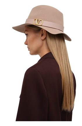 Женская фетровая шляпа VALENTINO бежевого цвета, арт. WW2HAA26/YTE | Фото 2 (Материал: Шерсть)