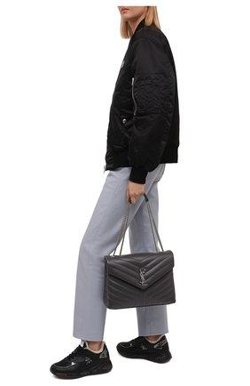 Женские комбинированные кроссовки scarlet PREMIATA черного цвета, арт. SCARLETT/VAR5512   Фото 2 (Подошва: Платформа; Материал утеплителя: Натуральный мех)