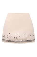 Женская юбка-шорты VALENTINO белого цвета, арт. WB3RA7P41CF | Фото 1 (Материал внешний: Шерсть, Шелк; Длина Ж (юбки, платья, шорты): Мини; Женское Кросс-КТ: Юбка-одежда, юбка-шорты; Стили: Гламурный)