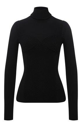 Женская водолазка из вискозы VALENTINO черного цвета, арт. WB3KC23M6LV   Фото 1 (Длина (для топов): Стандартные; Рукава: Длинные; Материал внешний: Вискоза; Женское Кросс-КТ: Водолазка-одежда; Стили: Кэжуэл)