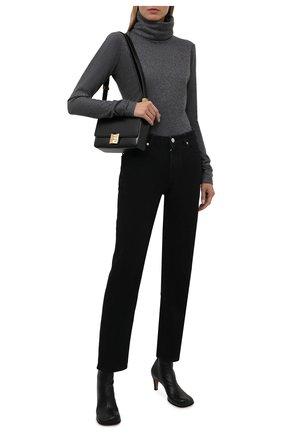Женская кашемировая водолазка KITON темно-серого цвета, арт. D52448K0535A   Фото 2 (Материал внешний: Шерсть, Кашемир; Рукава: Длинные; Длина (для топов): Стандартные; Женское Кросс-КТ: Водолазка-одежда; Стили: Кэжуэл)