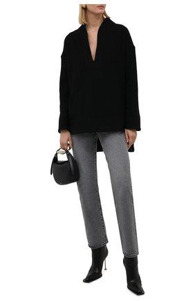 Женская кашемировая рубашка KITON черного цвета, арт. D52427K02T15   Фото 2 (Материал внешний: Шерсть, Кашемир; Рукава: Длинные; Длина (для топов): Удлиненные; Женское Кросс-КТ: Рубашка-одежда; Принт: Без принта; Стили: Романтичный)