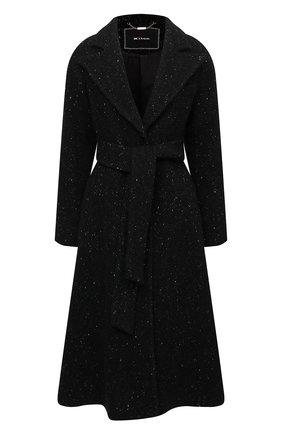 Женское пальто из шерсти и кашемира KITON черного цвета, арт. D52601K0126A   Фото 1 (Материал внешний: Кашемир, Шерсть; Длина (верхняя одежда): Длинные; Рукава: Длинные; Материал подклада: Шелк; 1-2-бортные: Однобортные; Стили: Классический)