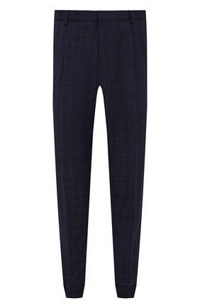 Мужские шерстяные джоггеры HUGO темно-синего цвета, арт. 50454770 | Фото 1