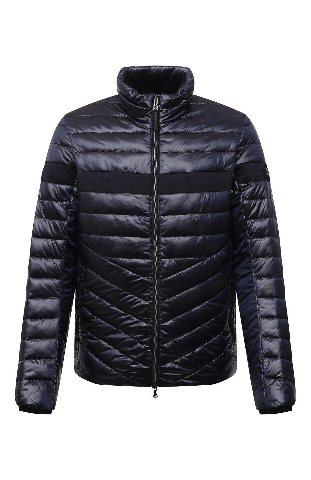 Мужская утепленная куртка BOGNER темно-синего цвета, арт. 38426549   Фото 1 (Кросс-КТ: Куртка; Мужское Кросс-КТ: пуховик-короткий; Рукава: Длинные; Материал внешний: Синтетический материал; Материал подклада: Синтетический материал; Длина (верхняя одежда): Короткие; Стили: Кэжуэл)