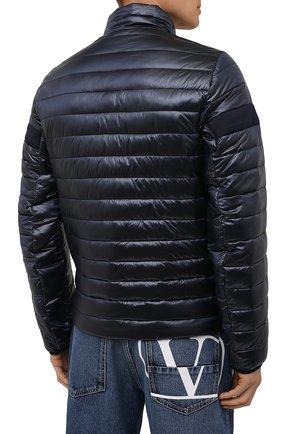 Мужская утепленная куртка BOGNER темно-синего цвета, арт. 38426549   Фото 4 (Кросс-КТ: Куртка; Мужское Кросс-КТ: пуховик-короткий; Рукава: Длинные; Материал внешний: Синтетический материал; Материал подклада: Синтетический материал; Длина (верхняя одежда): Короткие; Стили: Кэжуэл)