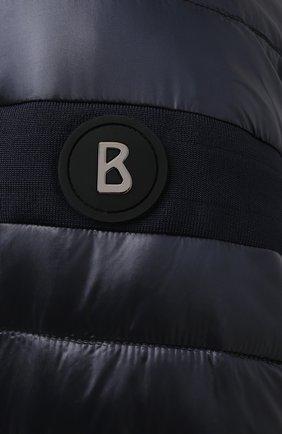 Мужская утепленная куртка BOGNER темно-синего цвета, арт. 38426549   Фото 5 (Кросс-КТ: Куртка; Мужское Кросс-КТ: пуховик-короткий; Рукава: Длинные; Материал внешний: Синтетический материал; Материал подклада: Синтетический материал; Длина (верхняя одежда): Короткие; Стили: Кэжуэл)