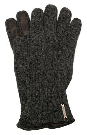 Мужские кашемировые перчатки CORNELIANI темно-серого цвета, арт. 88Q324-1820576/00 | Фото 1